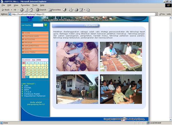 Website B2PTTG LIPI Subang