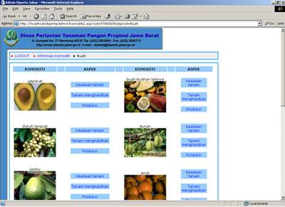Website Dinas Pertanian Tanaman Pangan