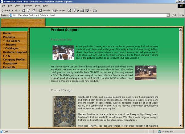 Website b2b Indotropic