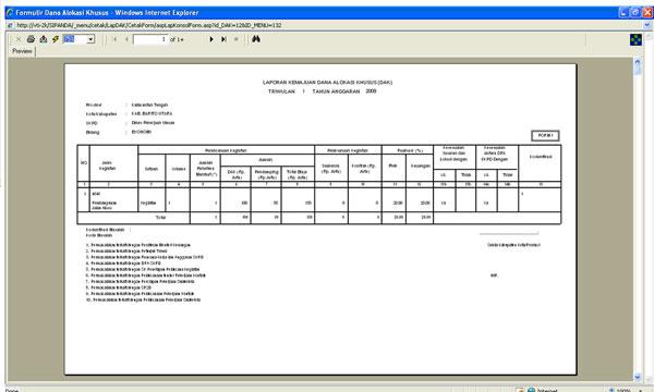 Sistem Informasi Bappeda Online