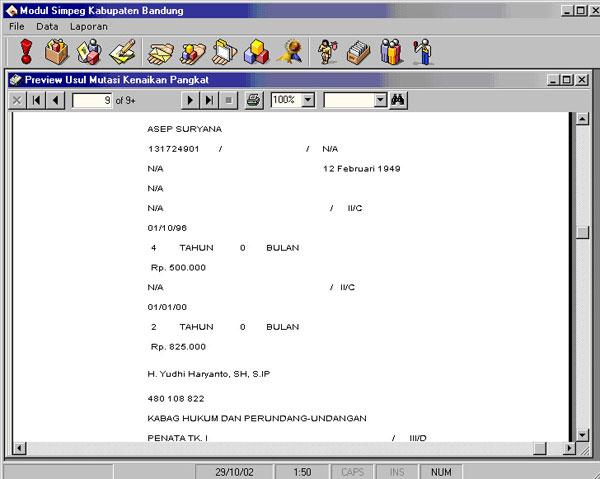 Sistem Informasi Manajemen Kepegawaian