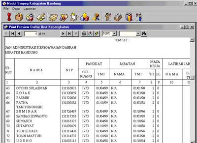 Sistem Informasi Manajemen Kepegawaian Daerah